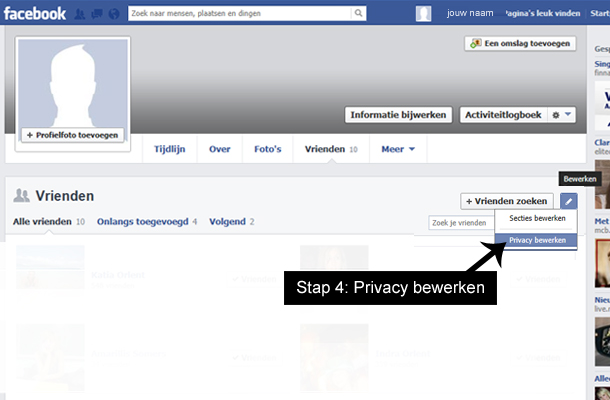 Hoe facebook vrienden verbergen 3