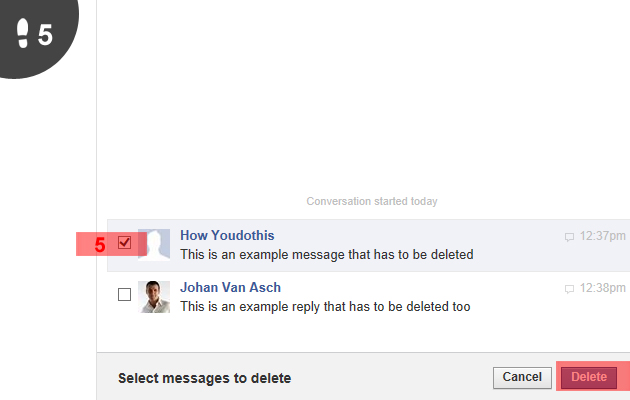how to see deleted messages on facebook 2013