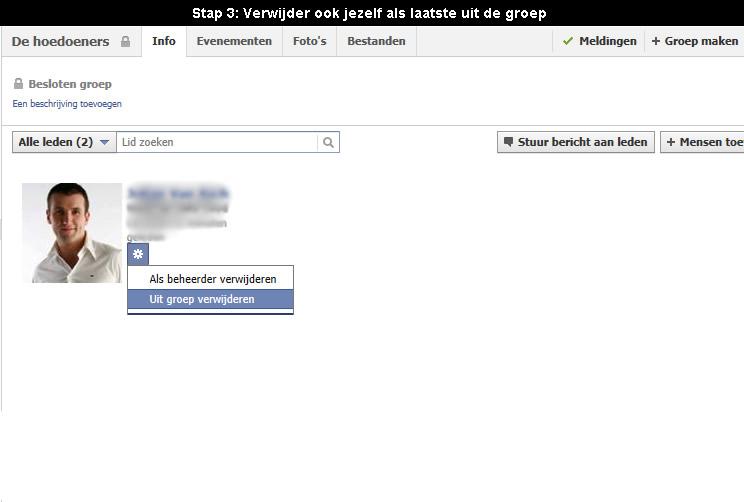 Hoe Facebook groep verwijderen