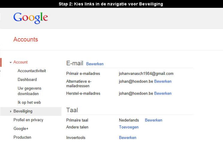 Hoe gmail wachtwoord veranderen 2