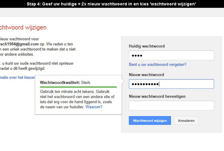 Wachtwoord gmail vergeten samsung