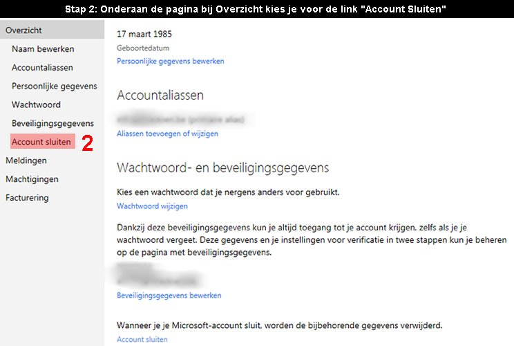Microsoft account verwijderen 2 - Hoedoen.be