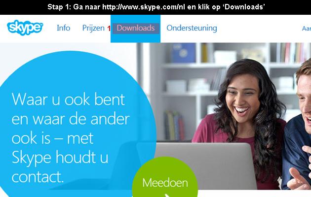 hoe skype downloaden 1