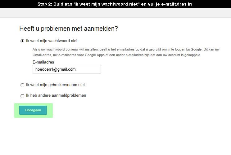 wachtwoord fb vergeten
