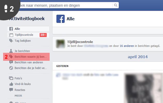 facebook tag verwijderen 2