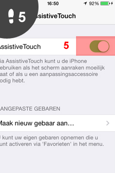 iphone aanzetten zonder knop 5
