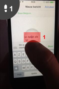 kopieren en plakken iphone