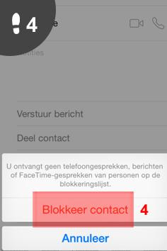 telefoonnummer blokkeren iphone