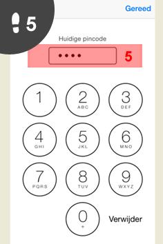 iphone pincode wijzigen 5
