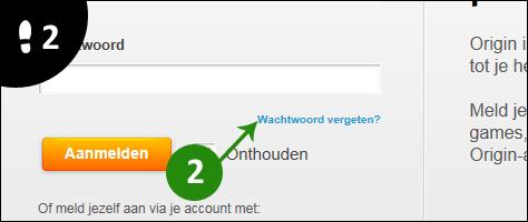 origin wachtwoord vergeten 2
