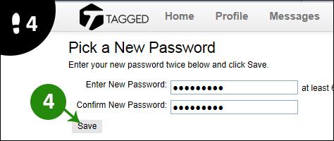tagged wachtwoord vergeten 4
