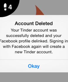 how to delete tinder account on app
