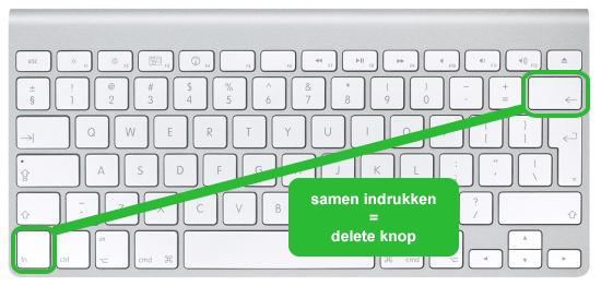 Hoe de delete knop op een Mac terugvinden? - Hoedoen.be