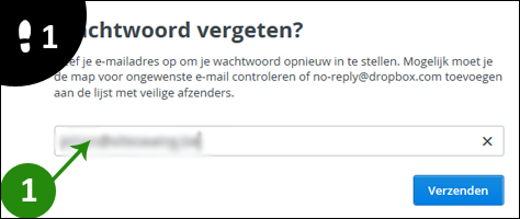 dropbox wachtwoord vergeten 1