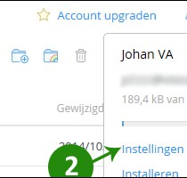 dropbox wachtwoord wijzigen 2
