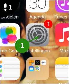 agenda iphone gewist