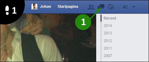 facebook berichten van niet vrienden 1
