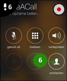 iphone gesprek opnemen 6