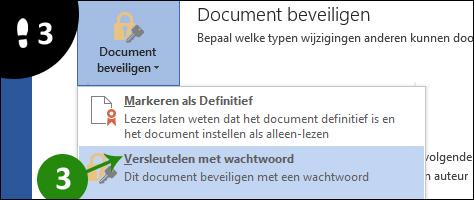 documenten beveiligen met wachtwoord