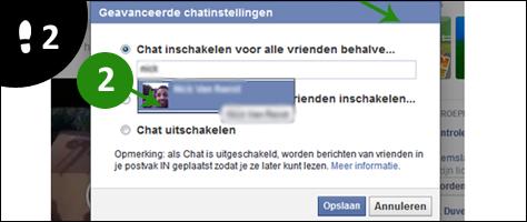 facebook chat iemand blokkeren