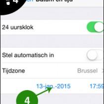 iphone datum tijd wijzigen 4