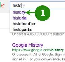 google zoekgeschiedenis uitschakelen 1