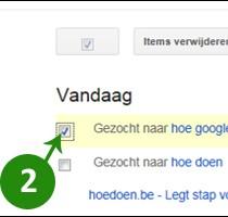 google zoekgeschiedenis verwijderen 2