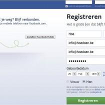 Hoe Facebook aanmaken 1