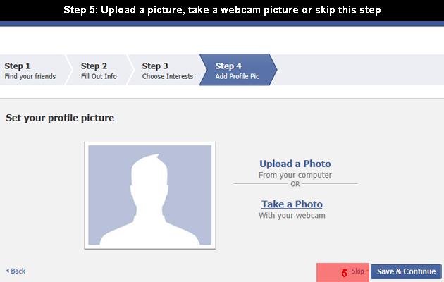 facebook create 5