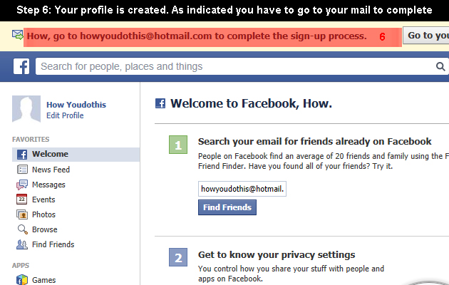 facebook create 6