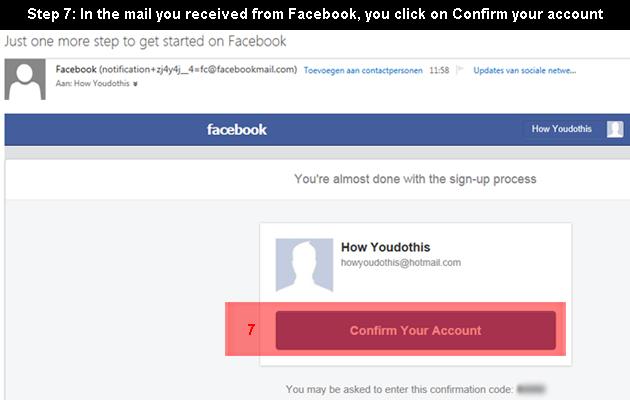 Facebook aanmaken 7