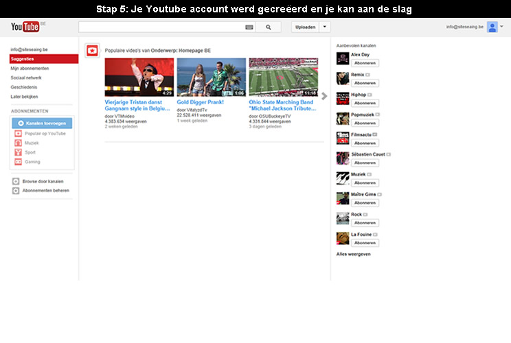 hoe youtube account aanmaken 5