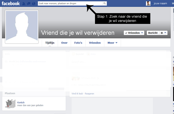 Hoe Facebook vrienden verwijderen 1