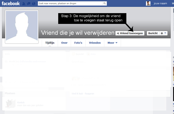 Hoe Facebook vrienden verwijderen 2