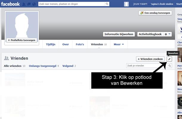 Hoe facebook vrienden verbergen 2