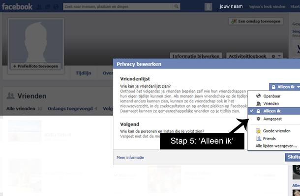 Hoe facebook vrienden verbergen 4