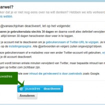 Hoe Twitter account verwijderen 3