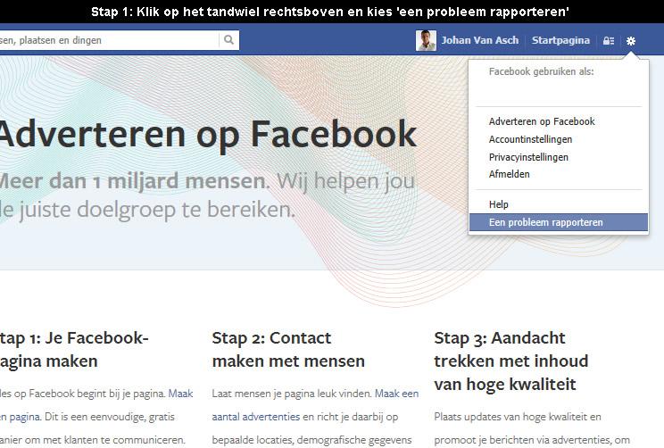 Facebook contacteren 1