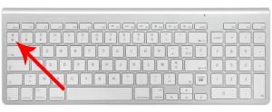 Waar staat het apenstaartje op een Mac?