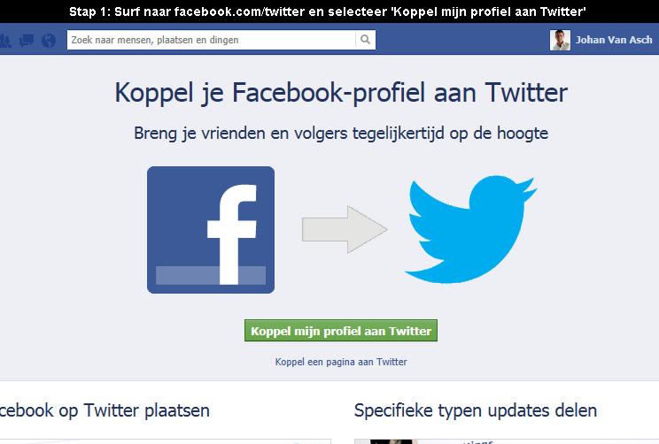 facebook en twitter koppelen 1