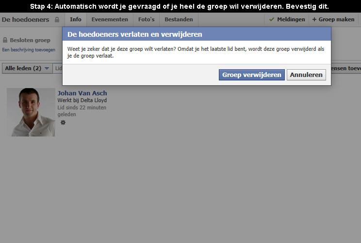 facebook groep verwijderen 4