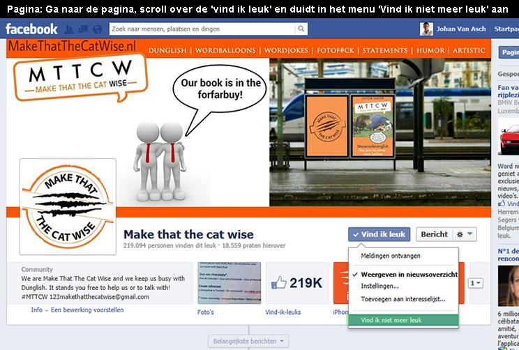 facebook like verwijderen 1 - Hoedoen.be