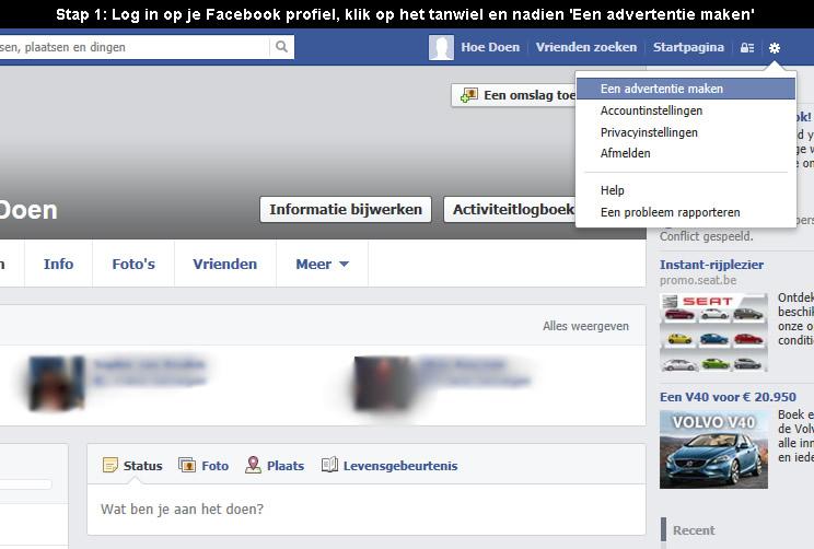 hoe facebook pagina aanmaken 1
