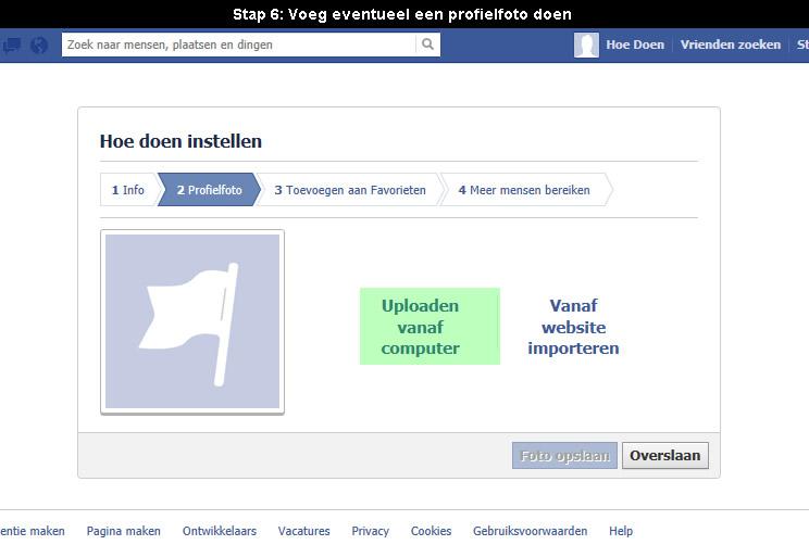 hoe facebook pagina aanmaken 6