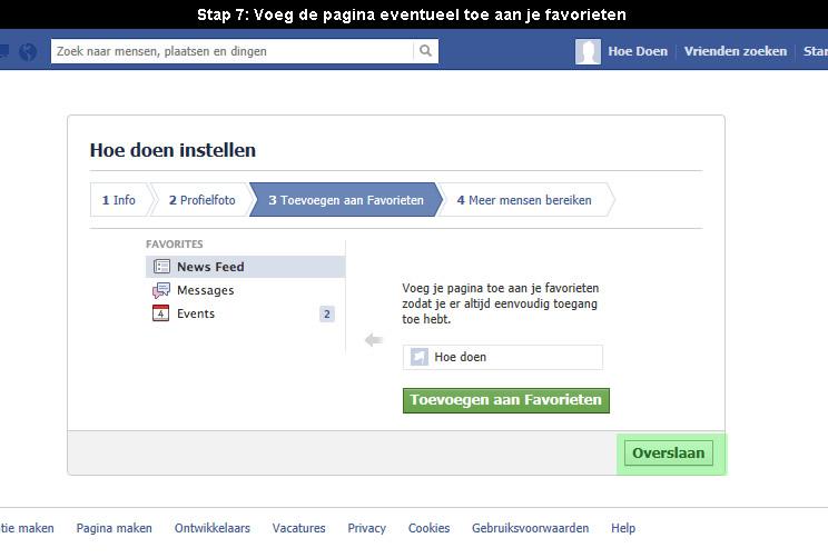 hoe facebook pagina aanmaken 7