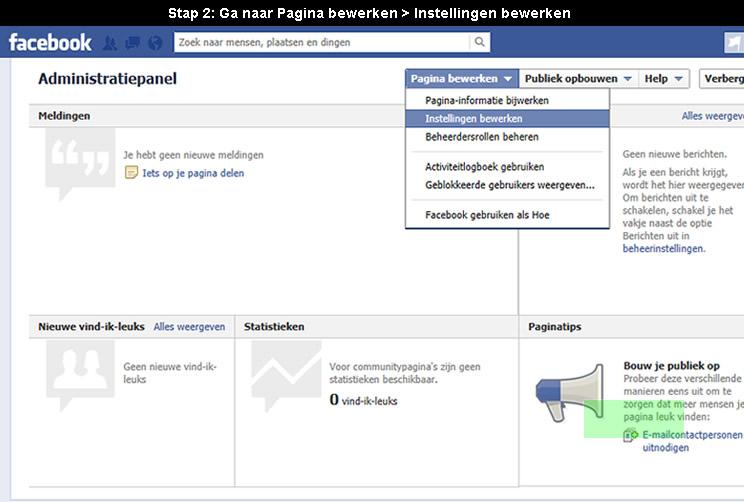 hoe facebook pagina verwijderen 2