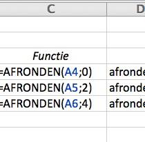 Hoe afronden in Excel?