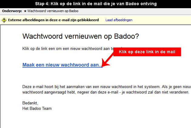 Badoo wachtwoord vergeten 4
