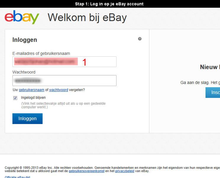 Ebay account verwijderen 1