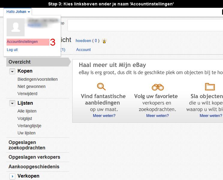 Ebay account verwijderen 3